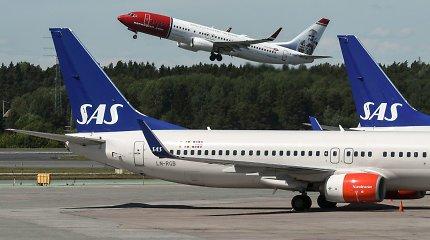 """""""Scandinavian Airlines"""" atšaukia skrydžius, tačiau privalo jumis pasirūpinti"""