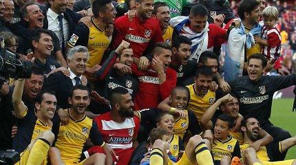 """""""Atletico"""" nukarūnavo """"Barcelona"""" ir tapo Ispanijos čempionu"""