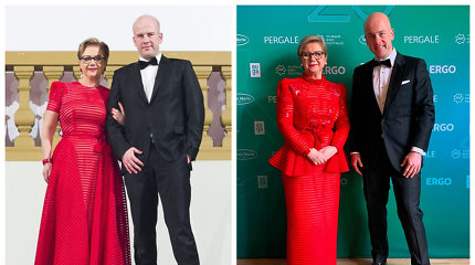 Vidos Ramaškienės žingsnis tvarios mados link: vilkėjo persiūtą Juozo Statkevičiaus suknelę