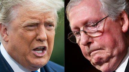 D.Trumpas paragino JAV respublikonus atsiriboti nuo jį sukritikavusio M.McConnello