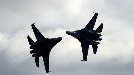 Kaliningrado srityje dislokuojamas oro pajėgas Rusija sustiprino naikintuvų pulku