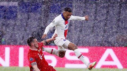 Įspūdingas mūšis užpustytame Miunchene – PSG pasiekė tarpinį revanšą už finalą
