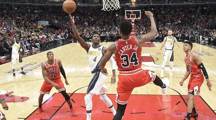 """Čikagoje – galingas D.Sabonio žaidimas ir """"Pacers"""" pergalė po pratęsimo"""