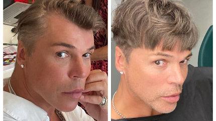 """Juozas Statkevičius nustebino išvaizdos pokyčiais: """"Plaukai auga, mados keičiasi"""""""