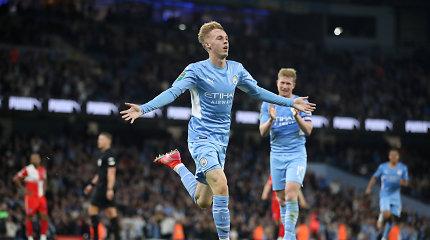 """Anglijos lygos taurėje – """"Man City"""" ir """"Liverpool"""" triuškinančios pergalės"""