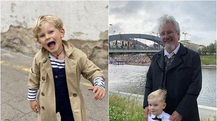 """Jauniausio """"Ąžuoliuko"""" choristo mama didžiuojasi, kad jos keturmetis sūnus Valstybės dieną lietaus neišsigando"""