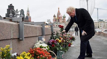 Maskvoje pagerbtas nužudyto opozicijos veikėjo B.Nemcovo atminimas