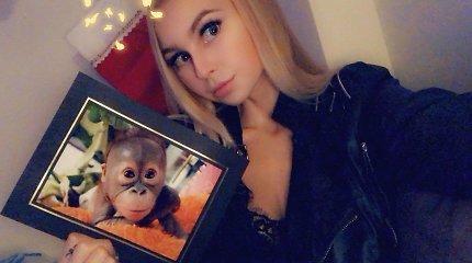 """Simona Milinytė ryžosi neįprastai globai – """"įsivaikino"""" nuo brakonierių nukentėjusį orangutaną Gito"""