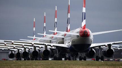 Lėktuvų keleivių nuosmukis pirmąjį ketvirtį – vienas didžiausių istorijoje