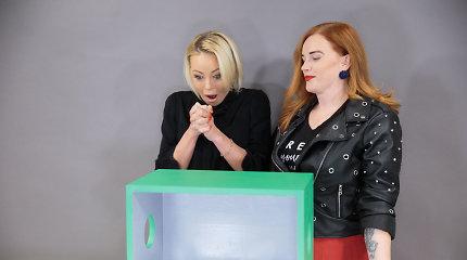 """Išsigandusi atlikėja Mia bandė pabėgti iš """"Atspėk, kas dėžėje"""" filmavimo: """"Aš negaliu"""""""