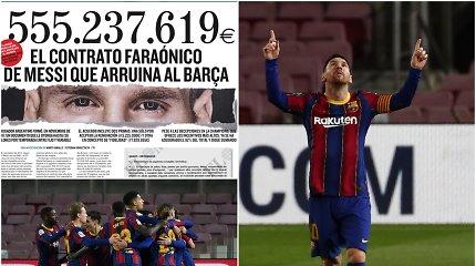 """Skandalas Ispanijoje: nutekintas """"didžiausias sporto istorijoje"""" L.Messi kontraktas"""
