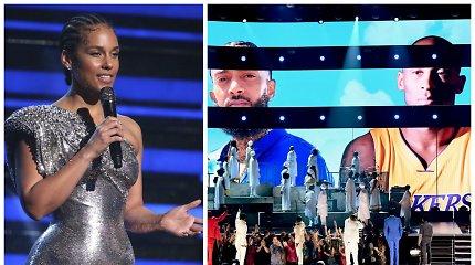 """""""Grammy"""" scenoje – jautri Alicia Keys daina Kobe Bryantui ir jo dukrai: žvaigždės sunkiai tramdė ašaras"""