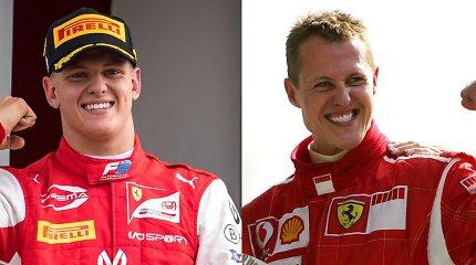 """Michaelio Schumacherio sūnus Mickas lenktyniaus """"Formulėje 1"""": jau išsirinko numerį"""