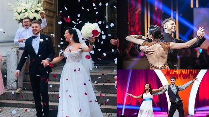 Žinomas šokių projektų dalyvis Ligitas Bernatavičius vedė mylimąją Sigitą