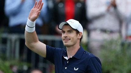 Pergalingai sugrįžęs Andy Murray – apie Vimbldoną ir mišrių dvejetų partnerę
