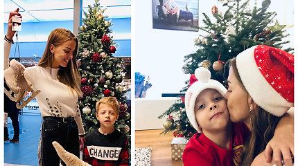 Vaida Skaisgirė atvėrė Kalėdomis alsuojančių namų duris – dekoru rūpinosi kartu su sūnumi