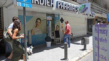 Krizės ištiktame Libane vaistinės pradėjo streiką dėl vaistų trūkumo