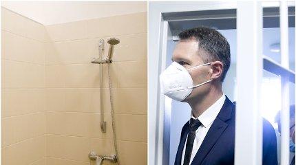 """Ypatingos Vilniaus įstaigos duše apsižvalgęs ministras: """"Čia geriau, nei Pravieniškėse!"""""""