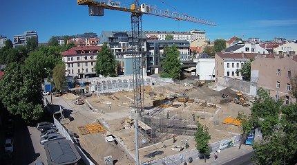 """Vietoje """"Lietuvos"""" kino teatro kylančio meno centro statybos įsibėgėja: liepą iškils pirmas pastato aukštas"""