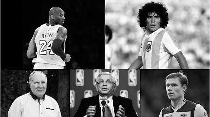 Netektimis paženklinti sporto metai: pasaulį paliko ir krepšinio, ir futbolo dievai
