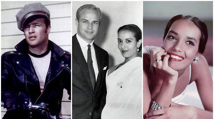 Egzotiška gražuolė, apsukusi galvą Marlonui Brando: santykiai iširo dėl melo