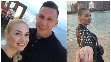 """Dubajuje susižadėjo Natalija Bunkė ir Edgaras Eidėjus: """"Akimirka, kurios mes nepamiršime visą gyvenimą"""""""