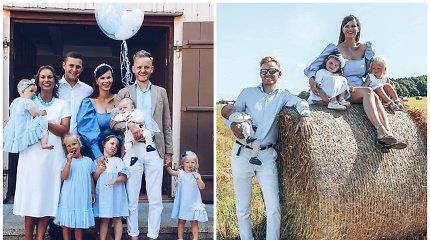 Laura ir Šarūnas Mazalai Vėžaičiuose pakrikštijo 2 mėnesių sūnų: vardą išrinko ne patys