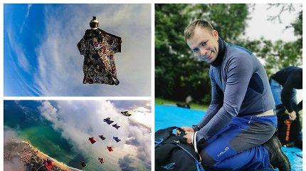 """Iš lėktuvų ir nuo uolų su specialiu kostiumu šuolius atliekantis Arvydas: """"Taip gali jaustis tik sapne"""""""