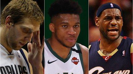 Reguliariojo sezono komandos: fiasko atkrintamosiose patyrę NBA favoritai