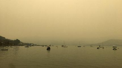 Gaisrų Australijoje dūmai aptemdė Naujosios Zelandijos dangų