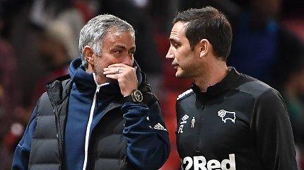 """Dvikovos su F.Lampardu laukiantis J.Mourinho: """"Myliu jį, bet tikiuosi, kad pralaimės"""""""