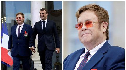 Prancūzijos prezidentas ir Eltonas Johnas susikibę rankomis paskelbė kovą prieš AIDS