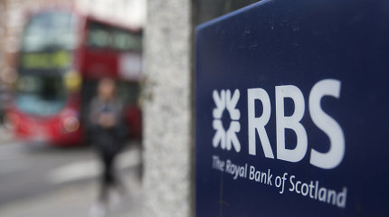 """Royal Bank of Scotland"" JAV skirta 4,9 mlrd. JAV dolerių bauda"