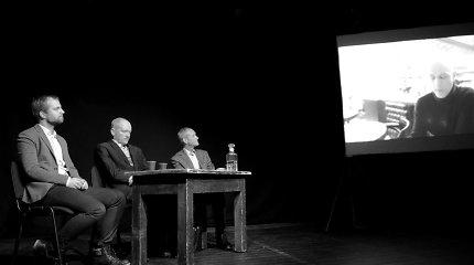 """""""Tekstūros"""": Tomo Vaisetos romano pristatymas Jaunimo teatre"""