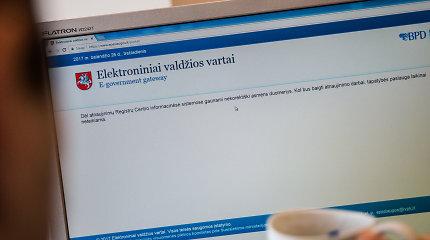 Buvo sutrikęs elektroninių valdžios vartų veikimas, gyventojai skundėsi dėl supainiotų duomenų