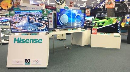 """Su televizorių rinkos lyderiais konkuruos naujas žaidėjas – """"Hisense"""""""