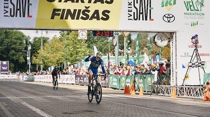 """""""Velomaratone"""" – dviratininkų lenktynės iki paskutinių sekundžių"""