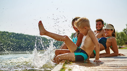 Plaukimo trenerė: vaikai iki 5 metų gali nuskęsti per kelias sekundes. Specialistės patarimai