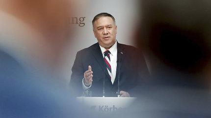 M.Pompeo per vizitą Kijeve patvirtins paramą pastangoms priešintis Rusijos agresijai