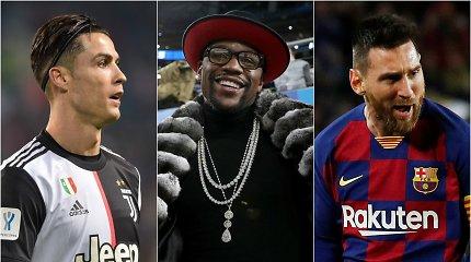 Turtingiausių dešimtmečio sportininkų sąrašo viršūnėje – boksininkas ir amžini varžovai