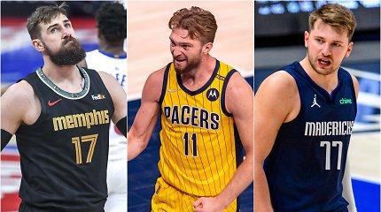 Beprotiškas NBA sezonas – finišo tiesiojoje: ar Domas, Jonas ir Luka spės į olimpinę atranką Kaune?