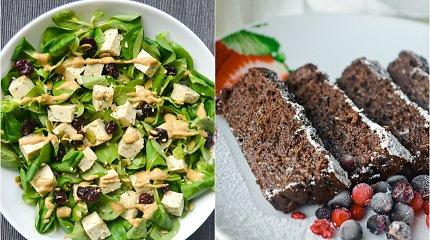 auGalingas pirmadienis: įdomios salotos su tofu iršokoladinė cukinijų duona
