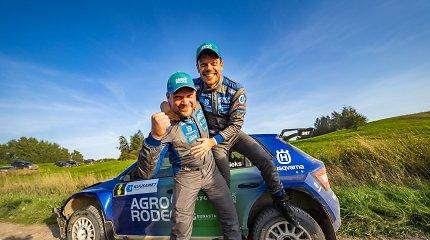 """""""Kuusamet Group Rally Elektrėnai 2021"""" – V.Žala sukūrė dviejų milimetrų stebuklą"""