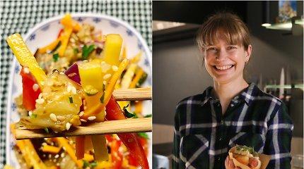 """""""Bulvių košės"""" receptas: azijietiškos salotos su baklažanais"""