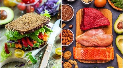 Dvi priešingos mitybos – keto ir veganiška: specialistas sklaido mitus apie jas