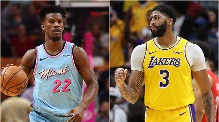 NBA savaitės žaidėjai – naujose komandose apsipratę J.Butleris ir A.Davisas