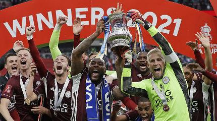 """FA taurės finale """"Leicester City"""" triumfą prieš """"Chelsea"""" lėmė gražuolis įvartis"""