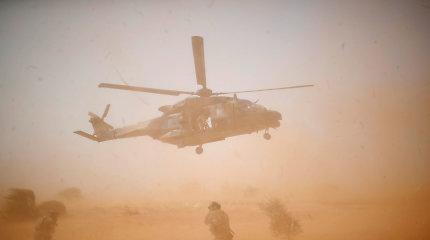 Malio šiaurėje susidūrus dviem sraigtasparniamsžuvo 13 prancūzų kareivių