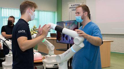 Klaipėdos universitetinė ligoninė išbandė jau antrą robotinę chirurginę sistemą