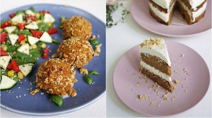 auGalingas pirmadienis: veganiška feta įdaryti kukuliai ir morkų tortas be glitimo